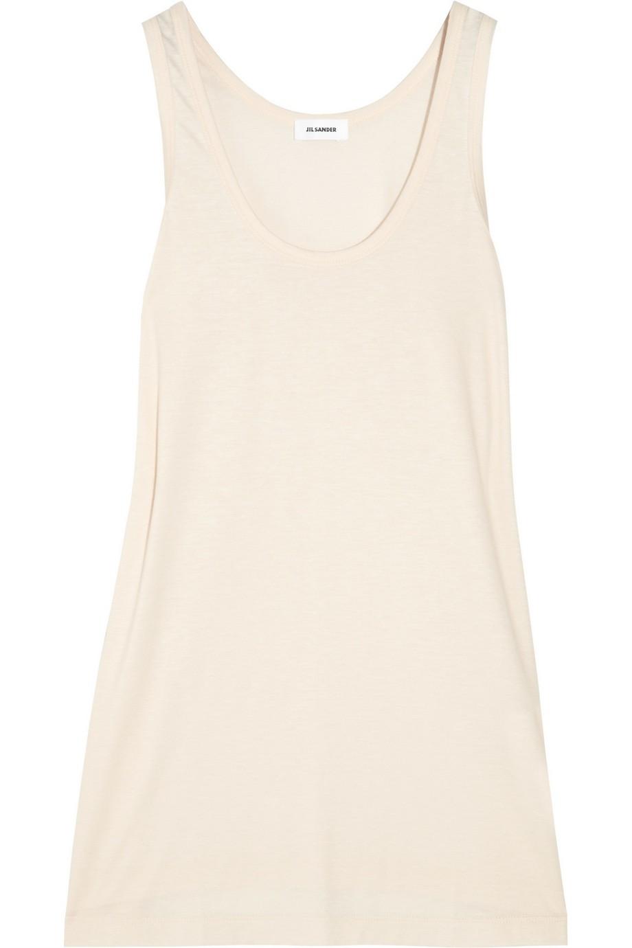 Cotton-blend jersey tank