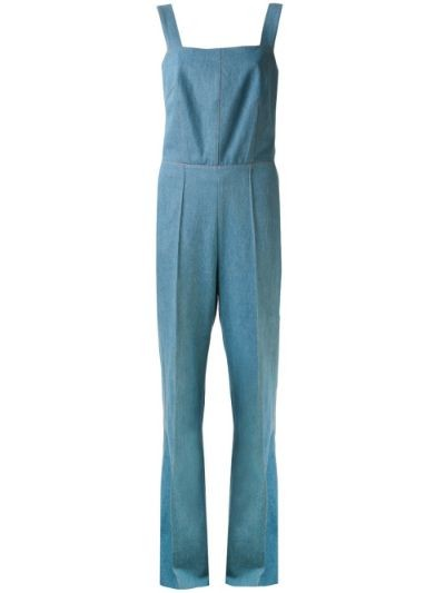 wide leg denim overall
