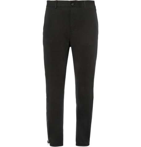 Slim-Fit Cotton and Cashmere-Blend Jersey Trousers