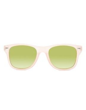 ASOS Retro Sunglasses With Flash Lens