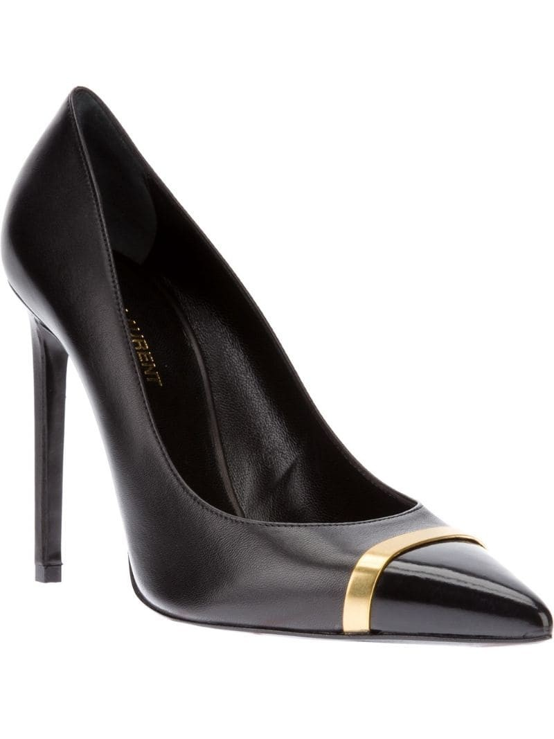 SAINT LAURENT 'Classic Paris' cap toe pump