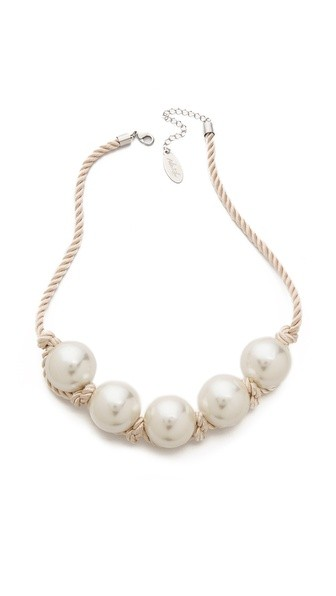 Faux Pearl Rope Necklace