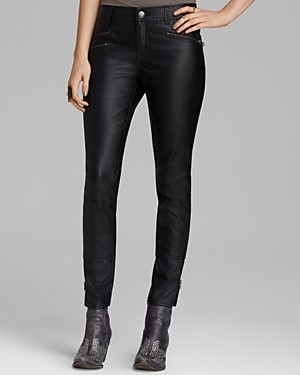 Free People Pants - Stretch Faux Leather Skinny