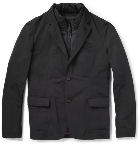 Blazer with Detachable Down-Filled Gilet