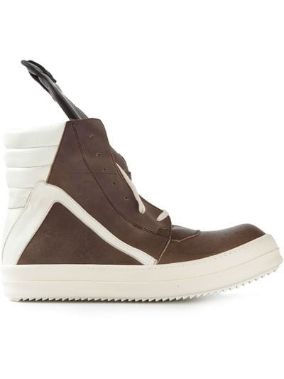 bi-colour hi-top sneakers