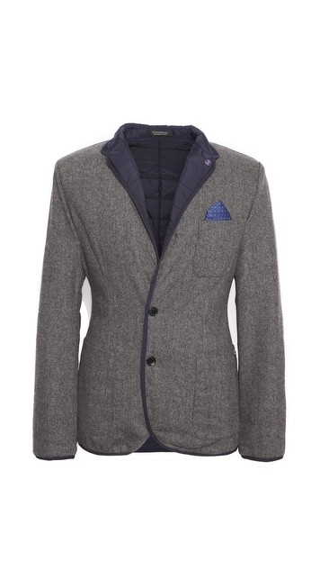 Quilted Wool Blazer
