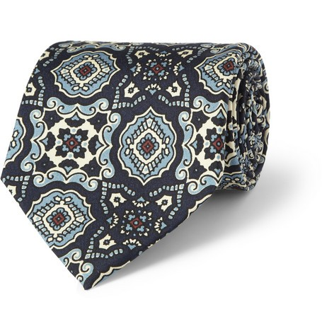 Madder Print Silk Tie
