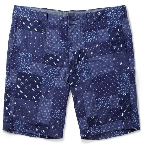 Stanton Printed Patchwork Cotton Shorts