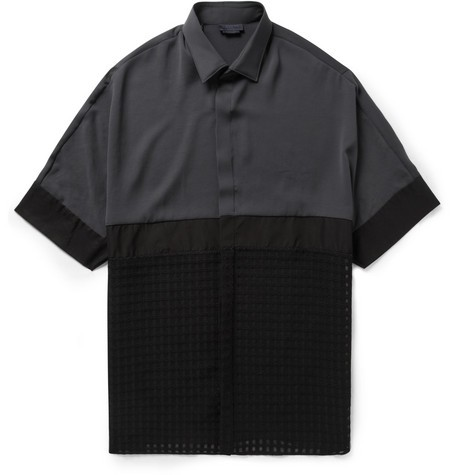 Panelled Short-Sleeved Shirt