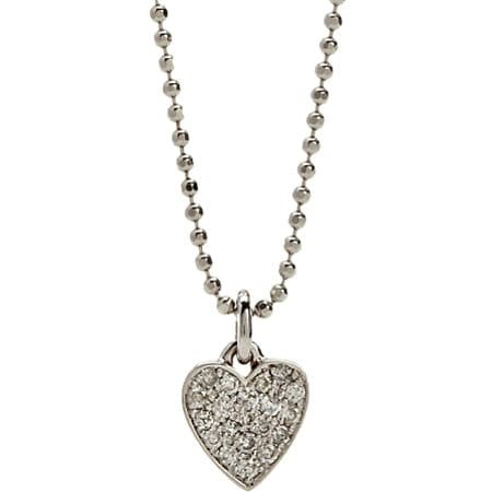 Pave Diamond Heart Pendant Necklace