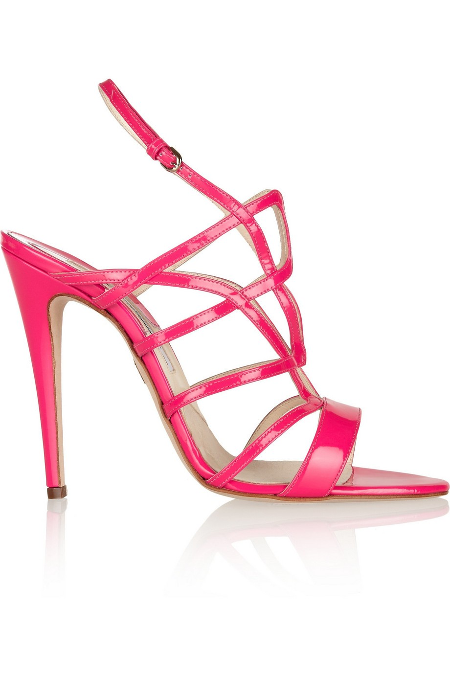 Gwen cutout patent-leather sandals