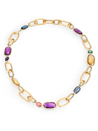 Semi-Precious Multi-Stone & 18K Yellow Gold Necklace