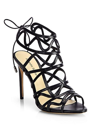 Strappy Leather Cage Sandals