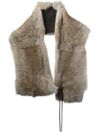 oversize fur scarf