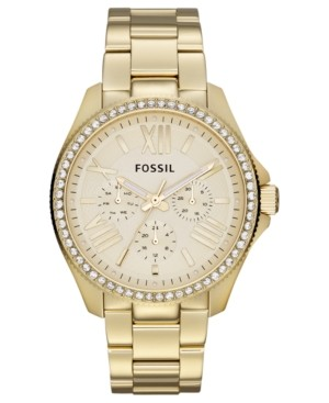 Fossil Watch, Women's Cecile Gold-Tone Stainless Steel Bracelet 40mm AM4482