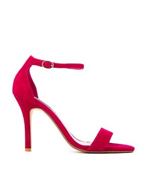 Dune Hydro Fuschia Barely There Heeled Sandals