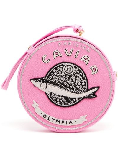Caviar Embroidered Felt Clutch