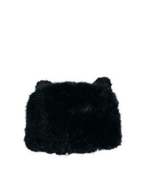 ASOS Faux Fur Ears Cossack Hat
