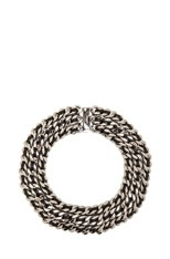 Gourmette Choker in Palladium & Black