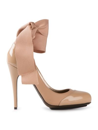 ribbon tie pumps