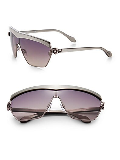 Metal Shield Rectangular Sunglasses