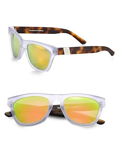 Mercury Seven Square Acetate Sunglasses/Crystal & Havana