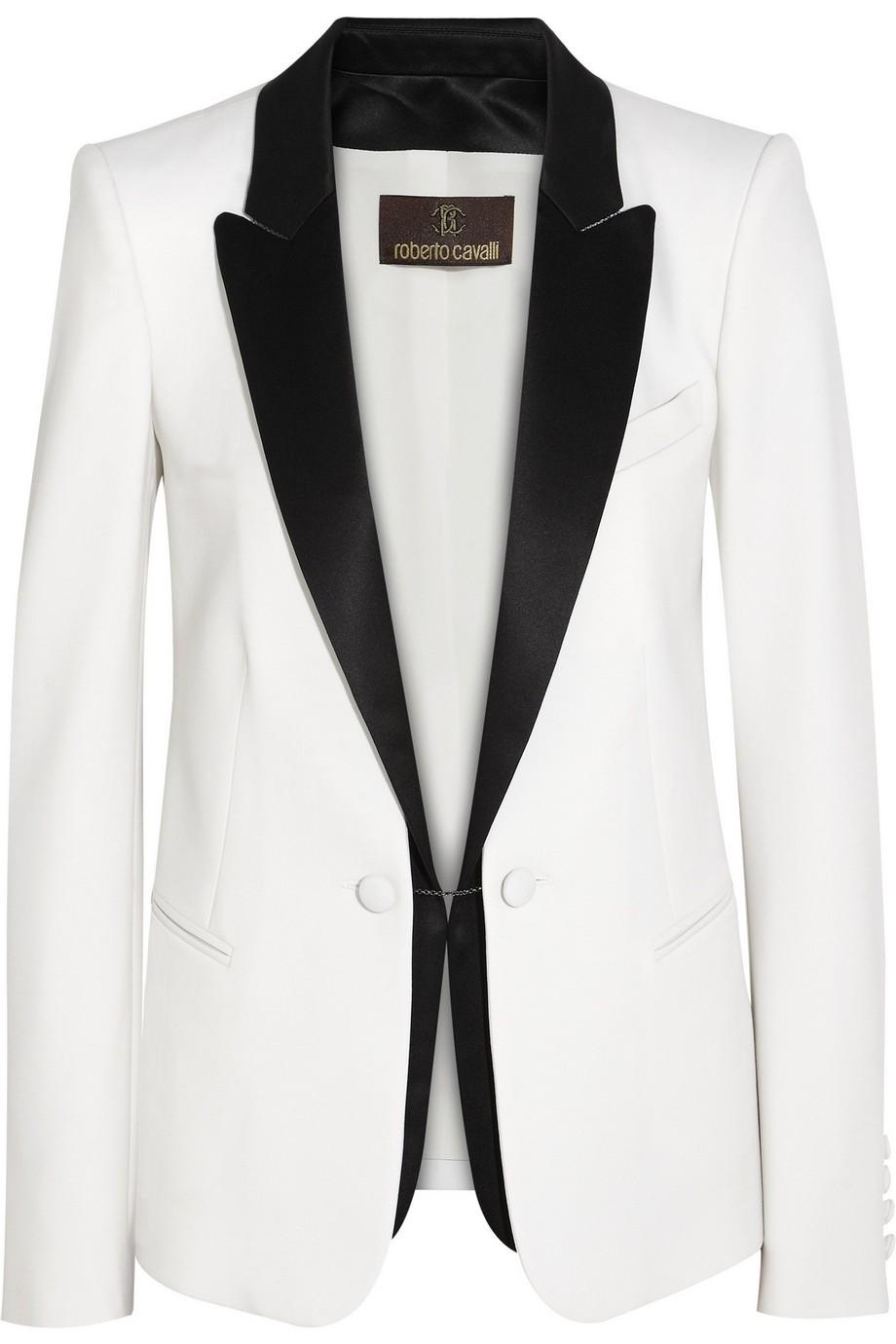 Stretch-wool tuxedo blazer