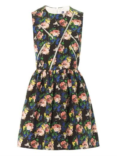Floral-print cotton dress