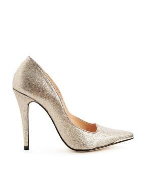 Ganni Glitter Marina Pointed Toe Heel Stilettos