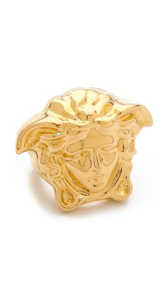 Gold Tone Medusa Ring