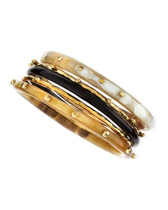 Exclusive JJW Bronze & Horn Bangle Set - Ashley Pittman