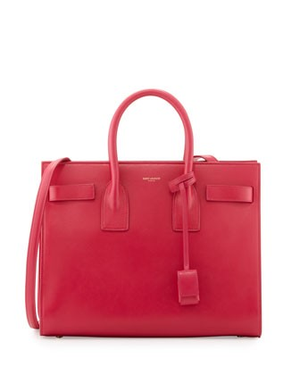 Sac de Jour Small Carryall Bag, Fuchsia - Saint Laurent