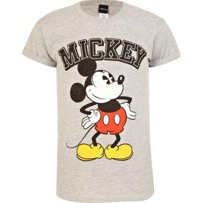 Grey marl Mickey Mouse t-shirt