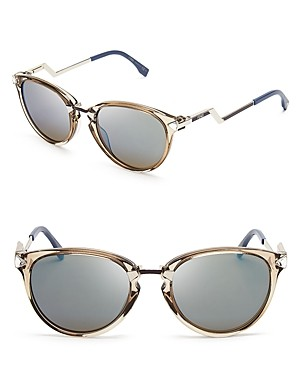 Fendi Mirrored Cat Eye Sunglasses