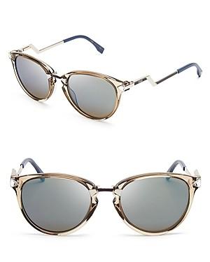 Fendi Mirrored Cat Eye Sunglasses