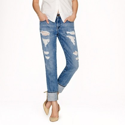 Vintage straight jean in Abbott wash