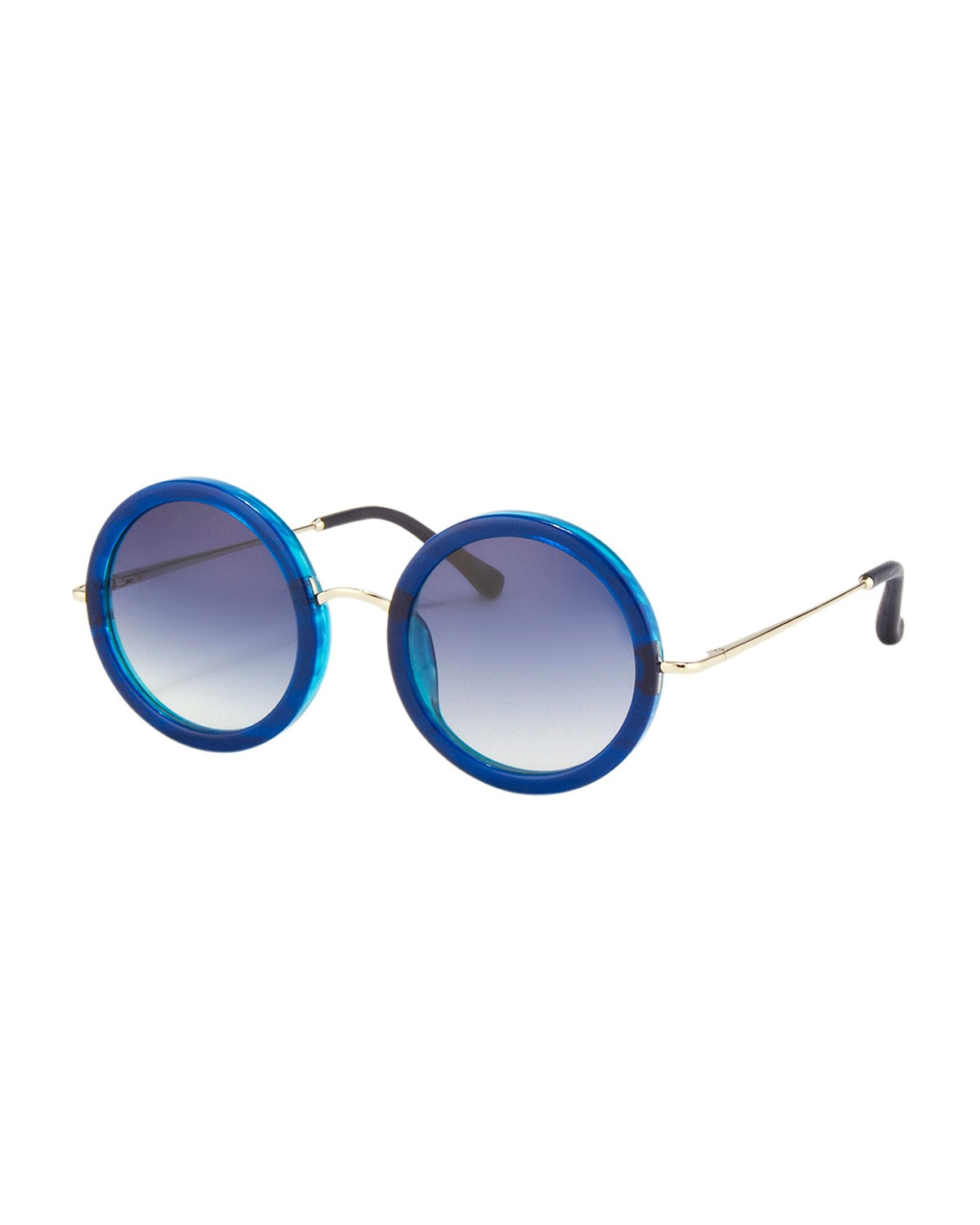 Round Circle Sunglasses, Blue - THE ROW - Blue