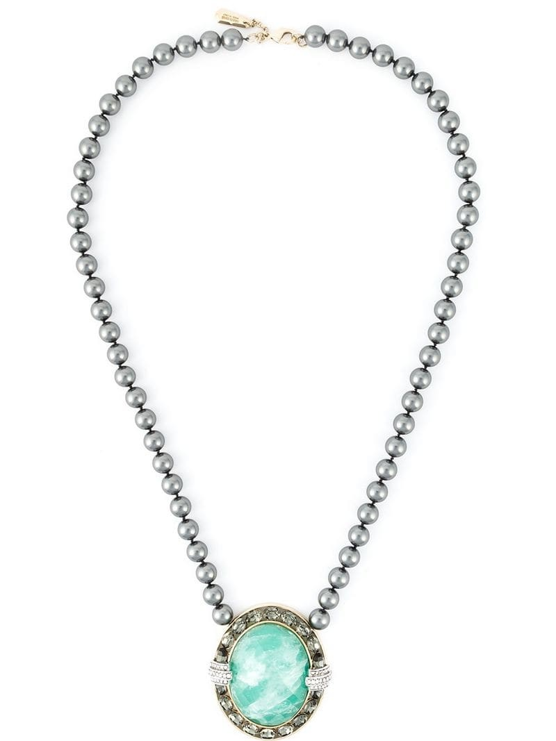 ROBERTO CAVALLI centre crystal beaded necklace