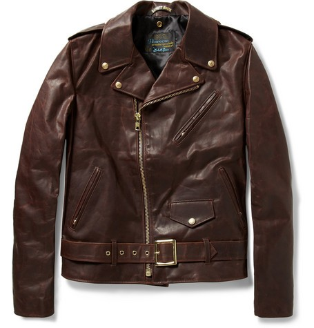 Perfecto Vintage Oiled-Leather Motorcycle Jacket
