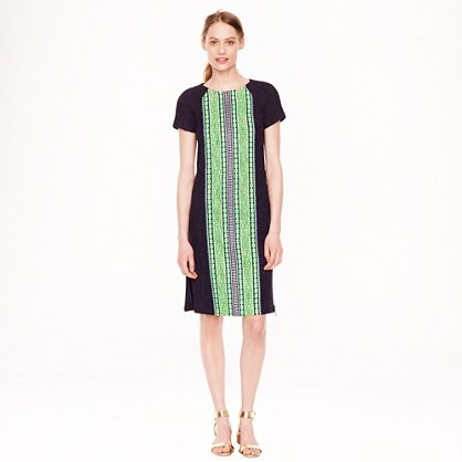 Collection tweed-stripe zip dress
