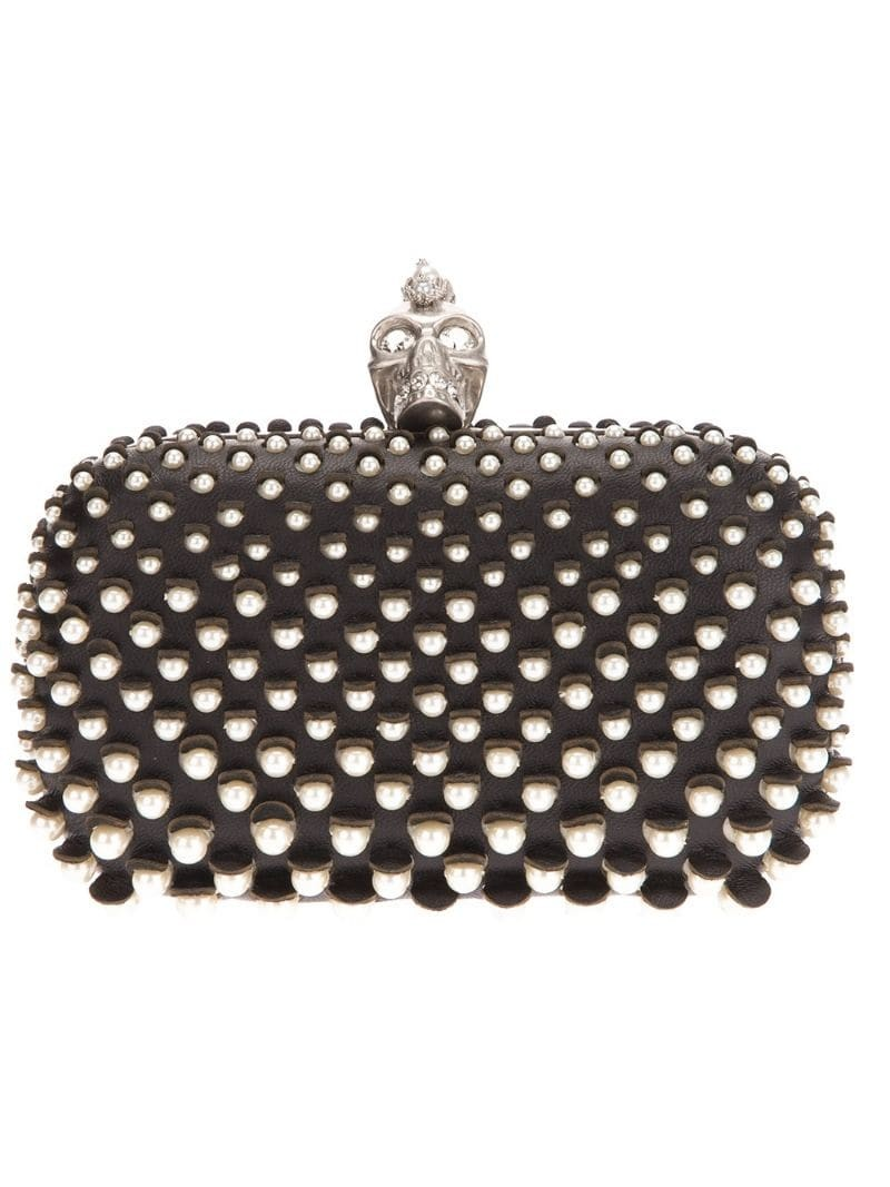 ALEXANDER MCQUEEN 'The Skull' pearl studded clutch