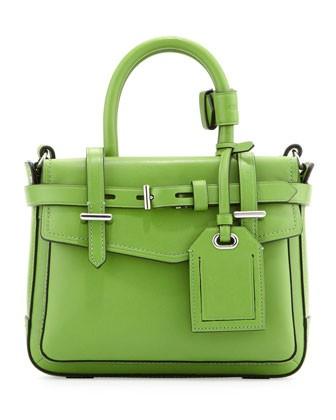 Boxer Micro Tote Bag, Green - Reed Krakoff