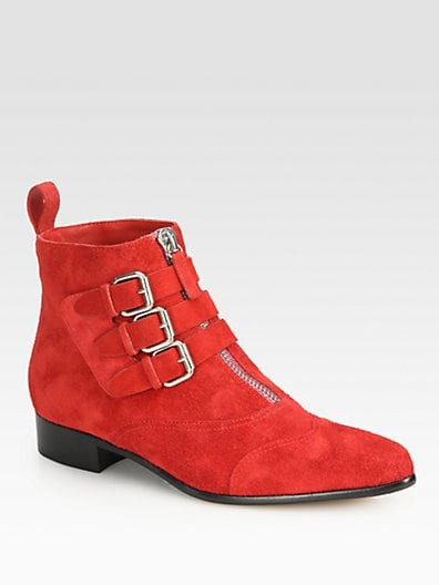 Early Suede Buckle Ankle Boots