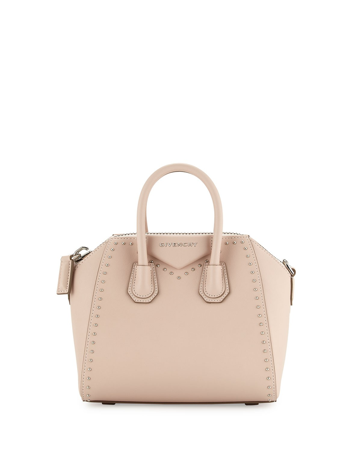 Antigona Mini Studs Couture Satchel Bag, Nude - Givenchy