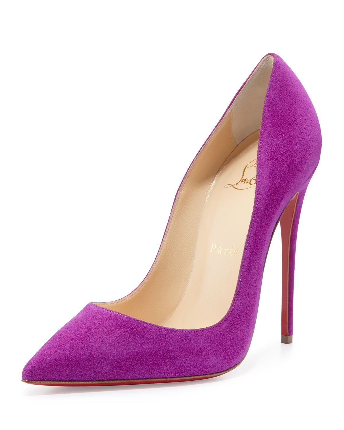 So Kate Suede Red Sole Pump, Purple - Christian Louboutin