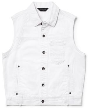 Rocawear Vest, Navigator Denim White Wash Vest