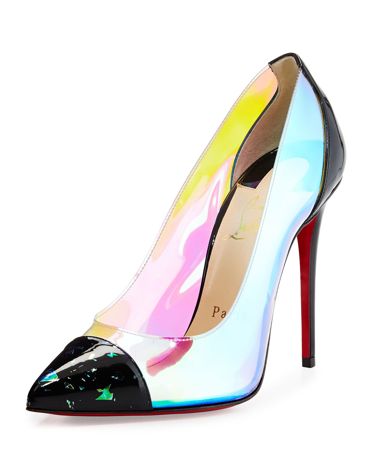 Debout Disco PVC Red Sole Pump, Multi - Christian Louboutin