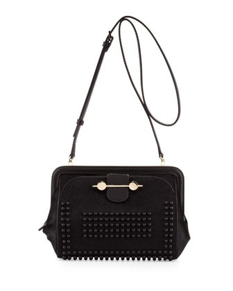 Studded Calf Hair Crossbody Bag, Black - Jason Wu