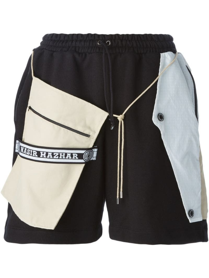 NASIR MAZHAR layered boxer shorts