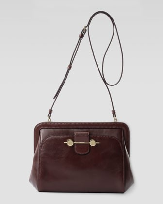 Daphne Leather Crossbody Bag, Bordeaux/Burgundy - Jason Wu